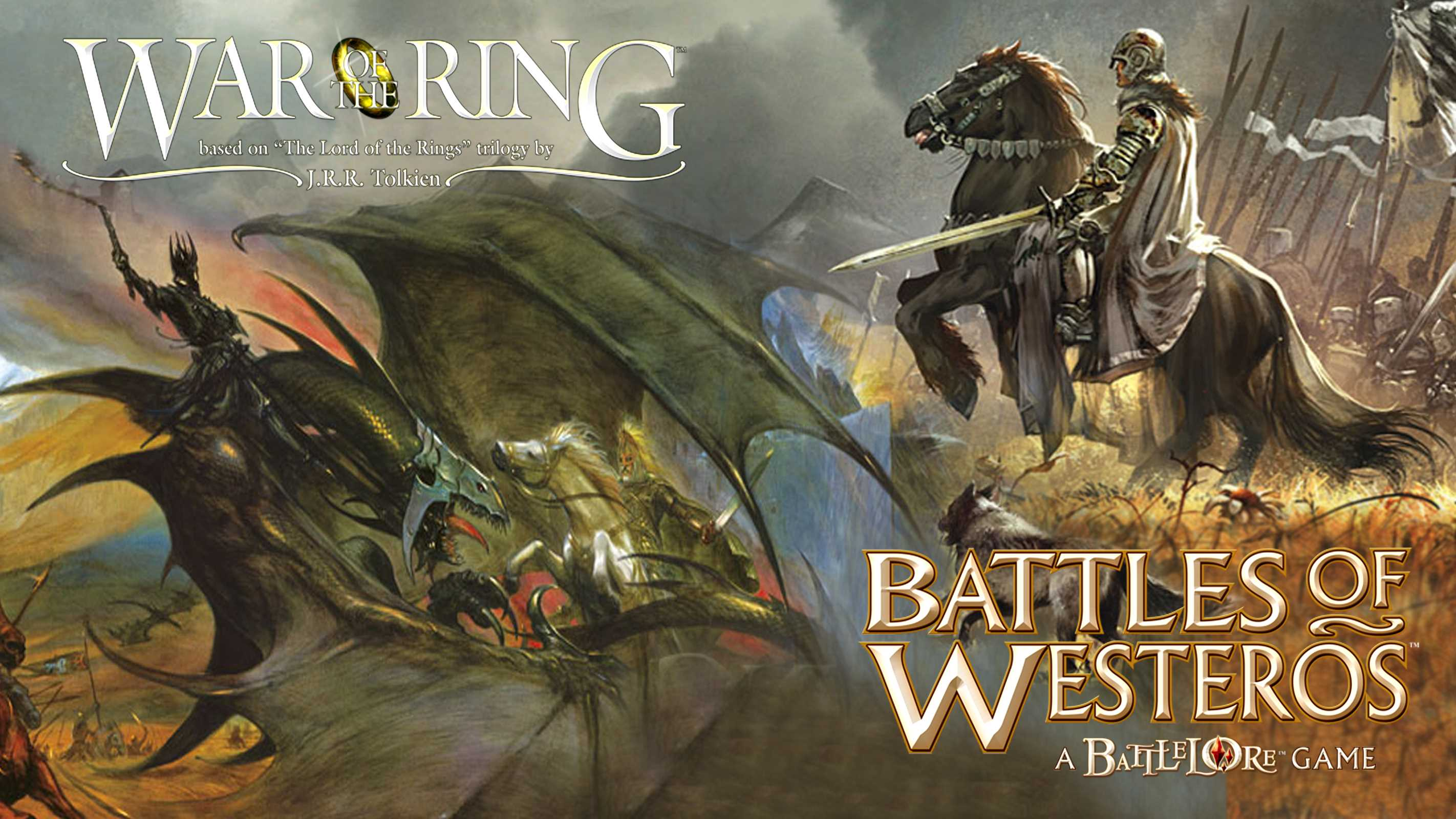 Fantasy Board Games War Of The Ring Vs Battles Of
