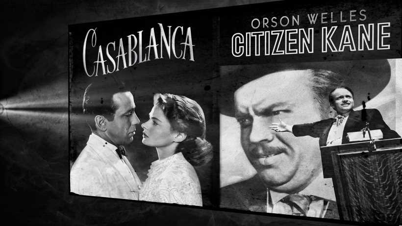best black and white film casablanca citizen kane