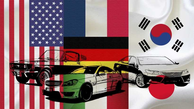American, European or Asian cars