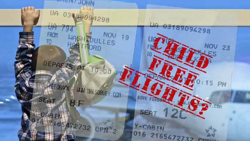 Child-free flights and seating zones