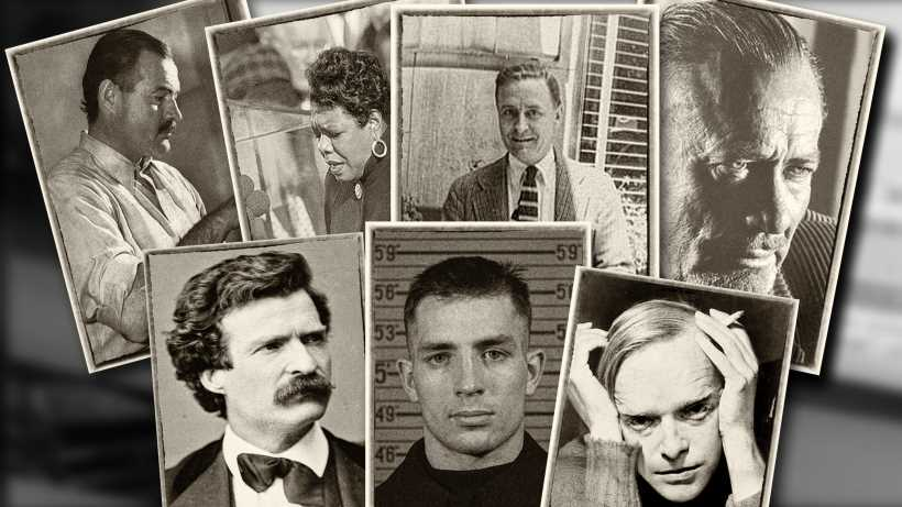 Greatest american writers: Hemingway, Fitzgerald, Angelou, Steinbeck, Twain, Capote and Kerouac