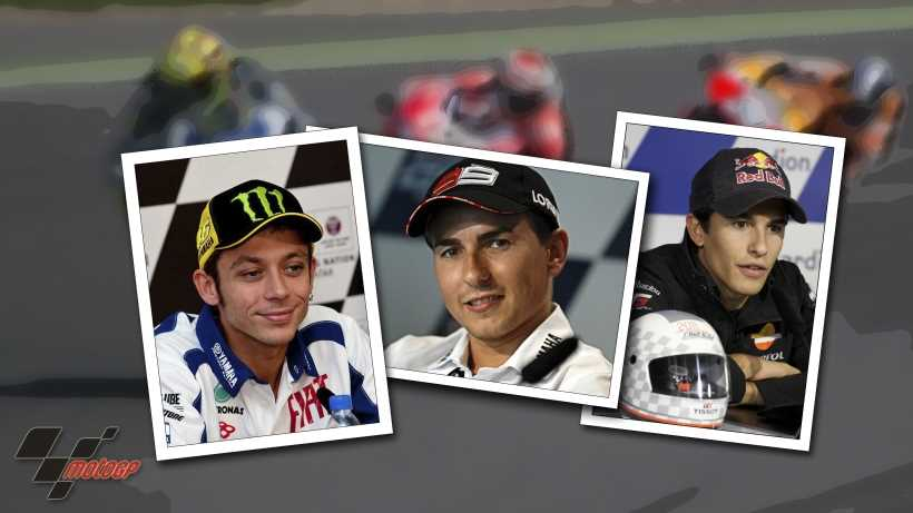 Rossi vs Lorenzo vs Marquez: motorcycle racing