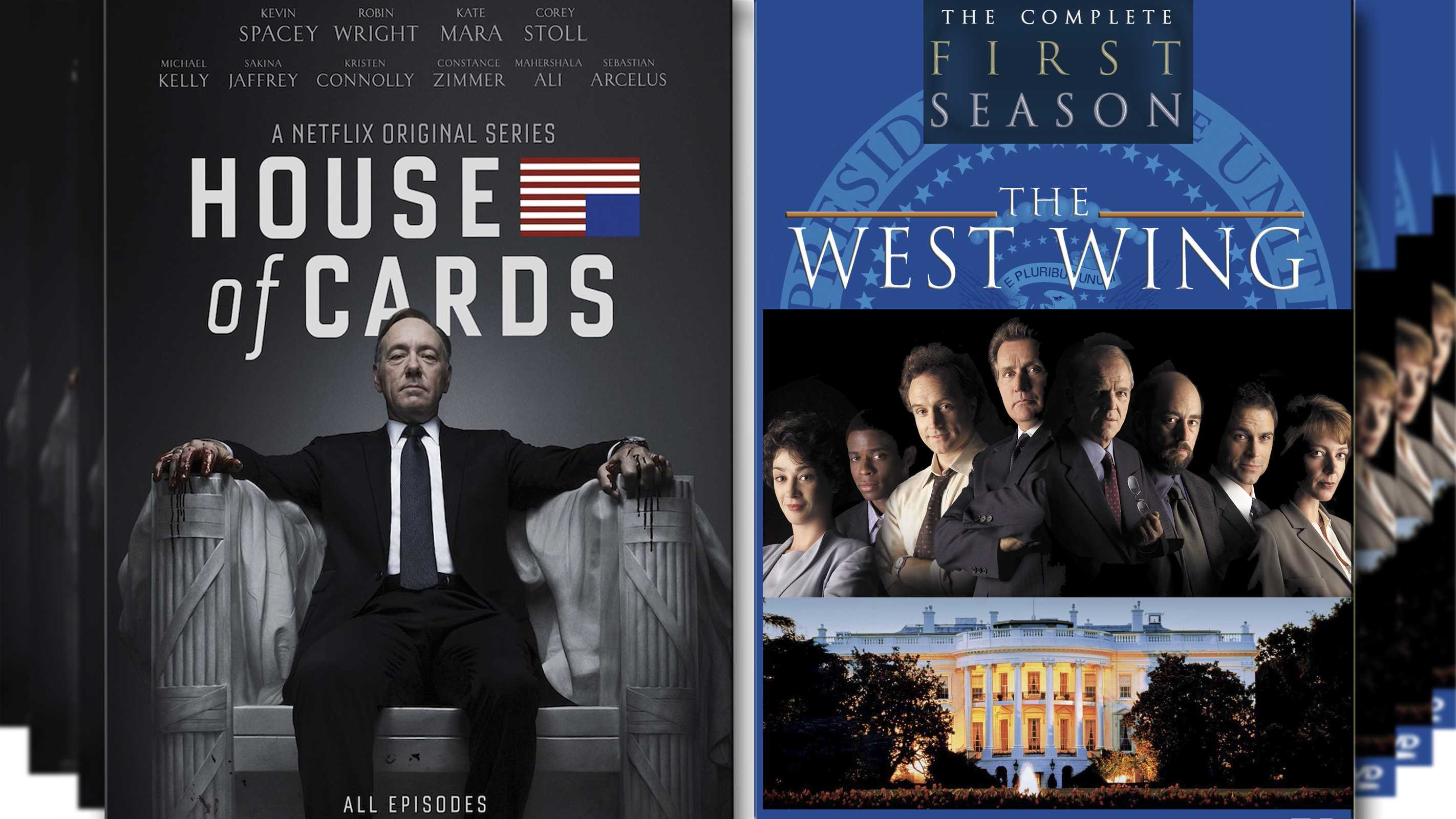 west wing vs house of cards best political tv series