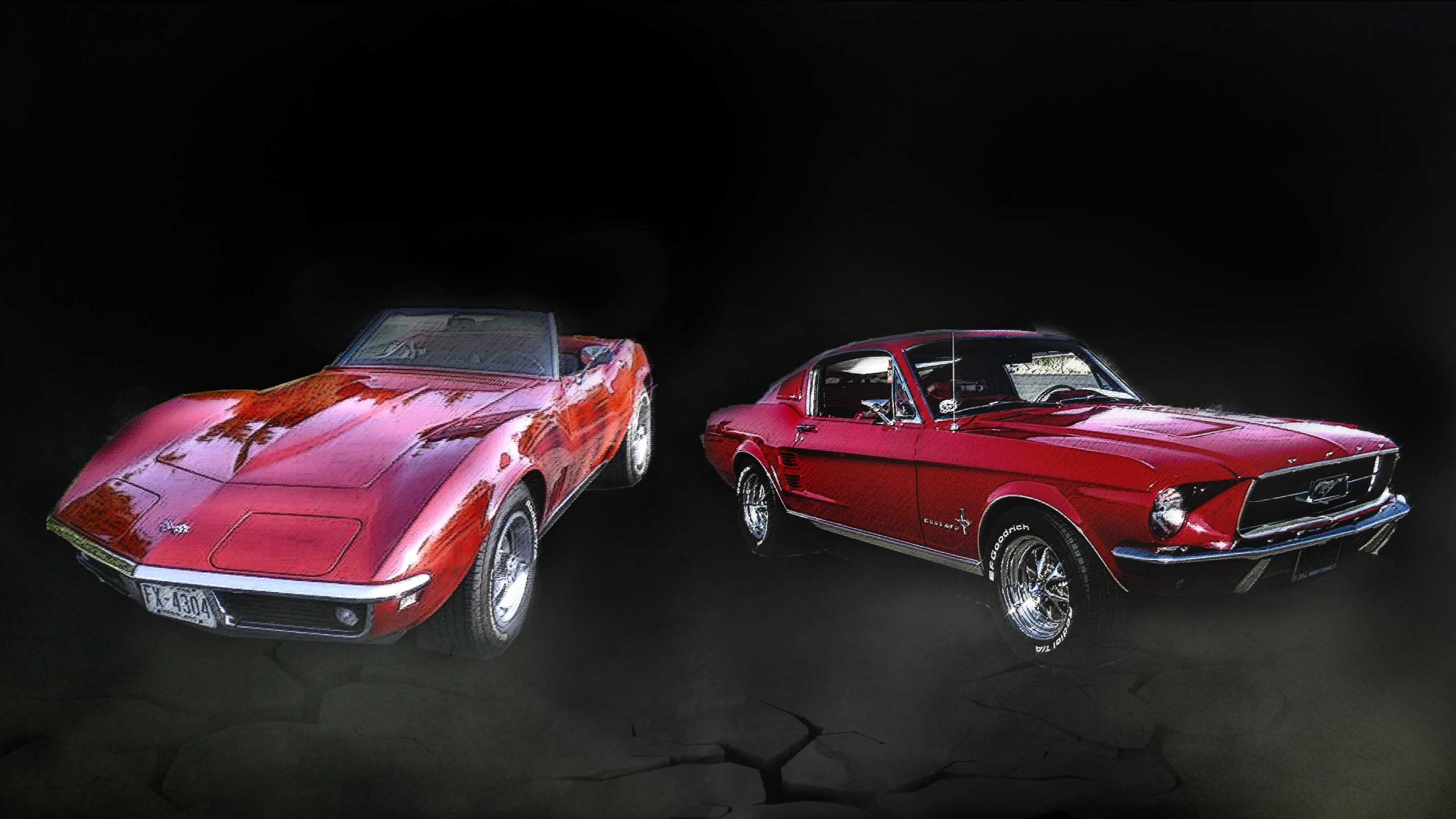 american classic cars corvette vs mustang netivist. Black Bedroom Furniture Sets. Home Design Ideas