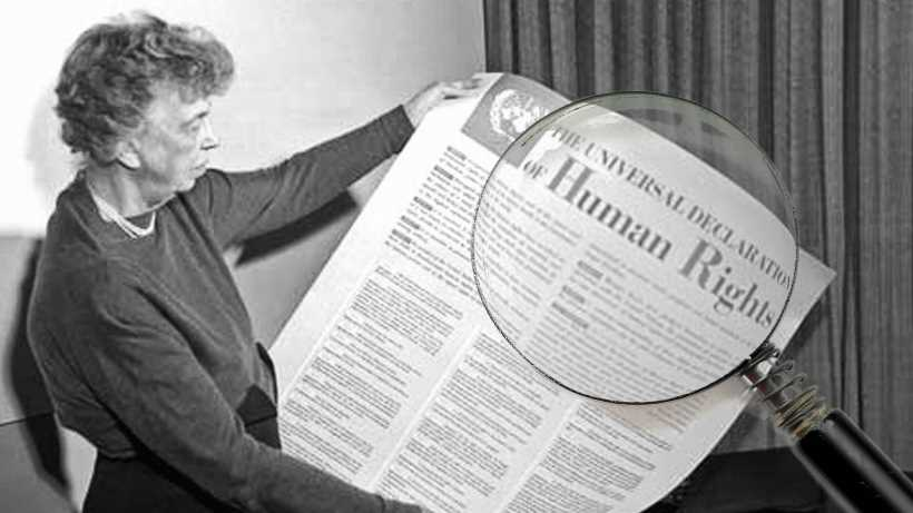 Are human rights universal? Eleanor Roosevelt