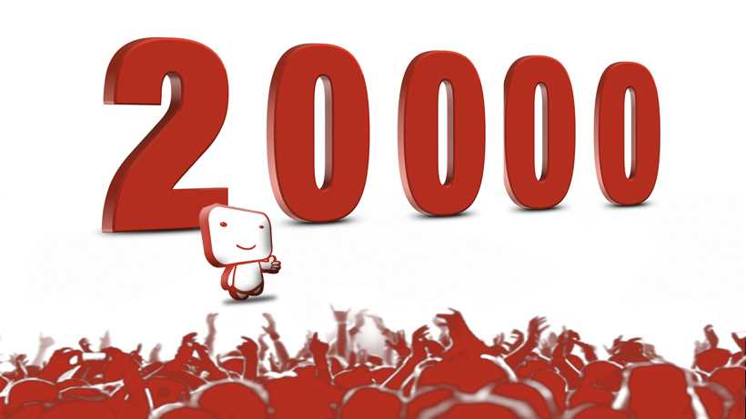 20000 netivist registered users